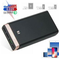 Poweradd 20000mAh LCD QC 3.0 Power Bank Fast Charger Portabl