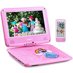 """UEME 9"""" Portable DVD Player with Swivel Screen 