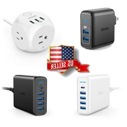 Anker PowerIQ PowerPort Cube USB Travel Wall Charger 2 4 5 6