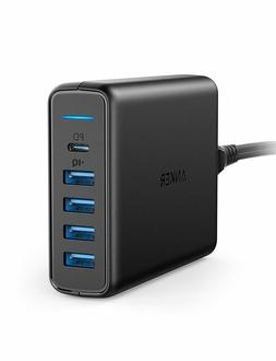 Anker PowerPort PD USB C Wall Charger 5 Port Desktop One Pow