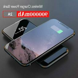 Qi Wireless & 2USB Power Bank 500000mAh Portable Charger Ext