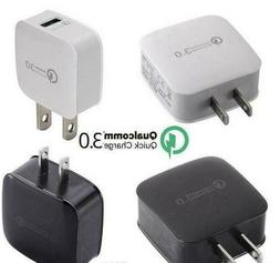 Qualcomm QC3.0 Certified Fast wall Charger USB Port Black or
