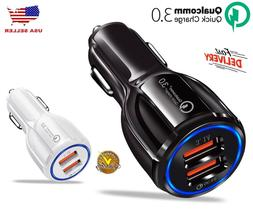USB Port Fast Car Charger Qualcomm QC3.0 Certified Quick Cha
