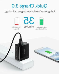 Anker Quick Charge 3.0 USB Wall Charger Fast Adapter Galaxy