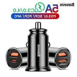 Baseus Quick Charge 4.0 3.0 USB <font><b>Car</b></font> <fon