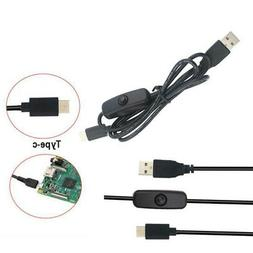 For Raspberry Pi 4 5V 3A Micro-USB Charger Adapter +with Swi