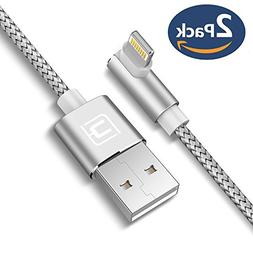 Right Angle Lightning Cable, CAFELE 2 Pack 5ft 90 Degree iPh