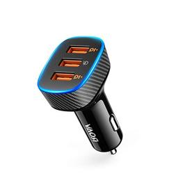 Roav SmartCharge Halo, by Anker, 3-Port USB 30W Car Charger