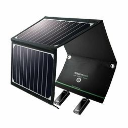 RAVPower Solar Charger 16W Solar Panel with Dual USB Port Wa