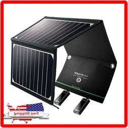 RAVPower Solar Panel Charger 16W with Dual USB Port Waterpro
