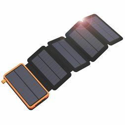 Solar Power Bank Dual USB Waterproof Charger Battery With Le
