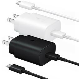Super Fast Charge Wall Charger USB Type C Cable for Samsung