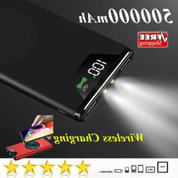 Top Wireless Charger 500000mAh Power Bank New Upgrade Extern