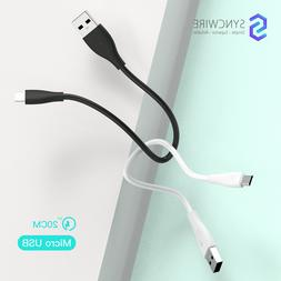Syncwire Unbreakcable Short Micro USB Cable USB 2.0 charger