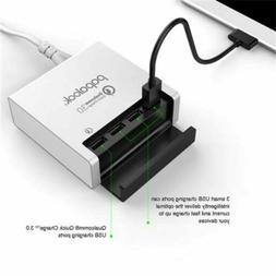 Universal 4 USB Port Fast Charging Wall Charger Hub Travel P