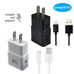 US Plug Wall AC Charger Adapter Micro USB Type C Fast Chargi
