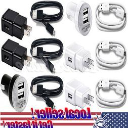 USA Wall Charger USB Cable Car Charger For Samsung Galaxy S7