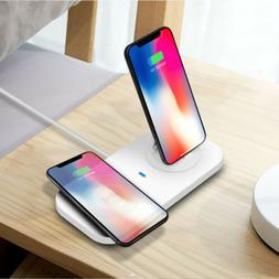 USB 3in1 Qi Wireless Charger Charging Dock Stand Mat Pad Sta