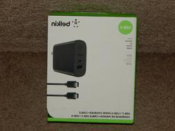 Belkin USB-C 2 Port 27w Wall Charger w/ 6ft USB-C to USB-A C