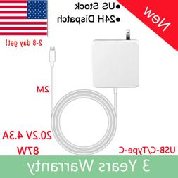 Laptop Charger 87W USB-C AC Power Supply Adapter Type-C For