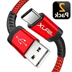 USB Type C Cable,JSAUX USB A 2.0 to USB-C Fast Charger Nylon