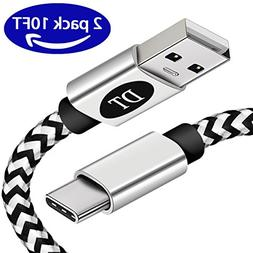 USB C Cable for Samsung Galaxy S8, Long USB C to USB A Charg
