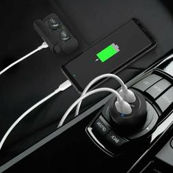 usb car charger 40w 3a metal dual