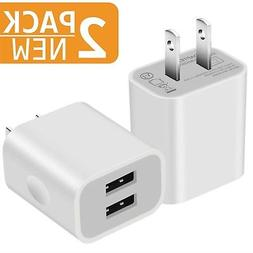 USB Charger, 5V Dual 2-Port 2.1 Amp Wall Charger USB Plug Ch