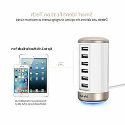 USB Charger 6-Port USB Wall Charger : Jelly Comb Universal M