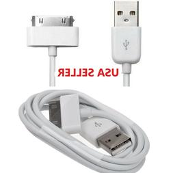 USB Charger Cable Cord Compatible to charge iPhone 4 4S iPod