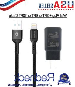 USB Charger Cord 3/6/10FT Lightning Cable for Apple iPhone 7