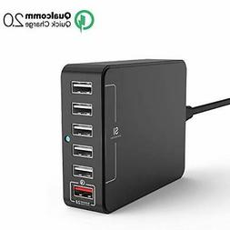 USB Charger, Jelly Comb Desktop Charger 6-Port USB Charging