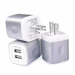 USB Charging Box, Charger Adapter, Ailkin 3Pack 2.1Amp Dual