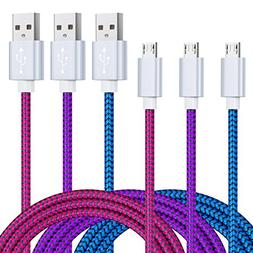 Micro USB Cable, Magic-T 3 Pack 6.6ft Braided USB to Micro U