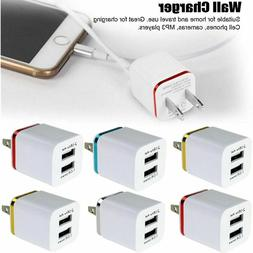 USB Double Wall Fast Charger Adapter 1A 2A 5V  For Android /
