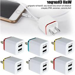 USB Dual Ports Wall Charger Plug Adapter 1A 2A 5V For Androi