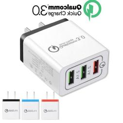 USB Fast Quick Charger Hub Wall Charger Power Adapter For iP