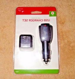 USB Home and Auto Chargers ~ Set New ~ Dual-Port Auto ~ Sing