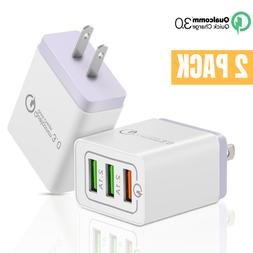 USB Multi Port Fast Charging Quick Wall Charger Adapter Plug