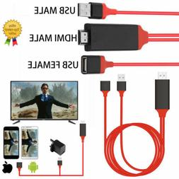 USB to HDMI TV Adapter Mirror HD 1080 OTG MHL Charger Cable