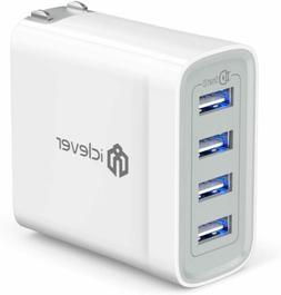 iClever USB Wall Charger, 40W 4-Port Charging Station, Multi