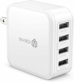 iClever USB Wall Charger, 40W 8A 4-Port Charging Station