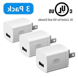 USB Wall Charger for iPhone, Vogek UL Listed 5V/1A Universal