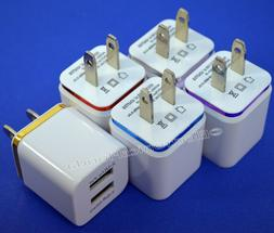 USB wall Charger Fast 1A 2A USB Adapter For Galaxy S3 4 5 No