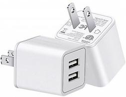 YUNSONG USB Wall Charger Fast Dual Port Travel Adapter Porta