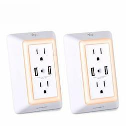 USB Wall Charger, Surge Protector, POWRUI USB Outlet with 2