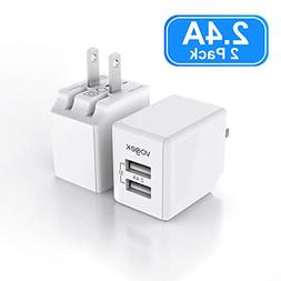 USB Wall Charger, Vogek Ultra Compact Dual Port 12W Foldable