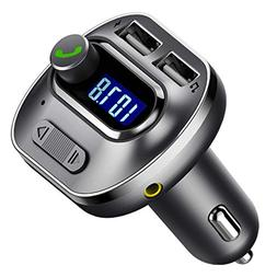 VicTsing V4.1 Bluetooth FM Transmitter for Car, Wireless Rad