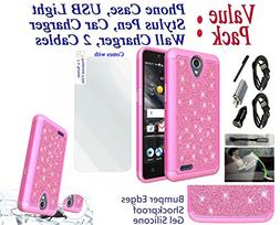 """Value Pack + for 5"""" ZTE ZFive 2 Overture 3 Midnight Pro Case"""