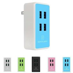 Wall travel charger 20w 4A 4 port fast USB Smart Charging fo